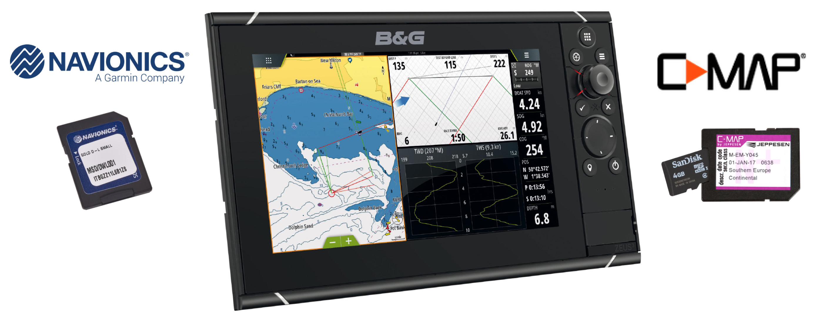 ZEUS nautical charts
