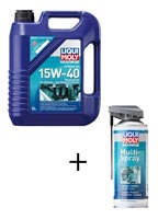 4T Motoröl 15W-40 + Multi Spray GRATIS