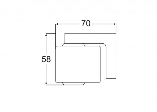 """TRUDESIGN Schlauchanschluss schwarz 120 Grad 50mm 2/"""""""